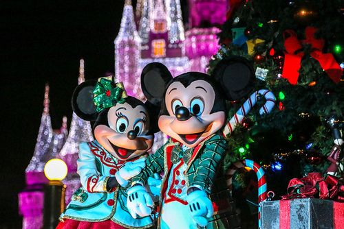 Merry Mickey Christmas! The Happiest Place On Earth Pinterest