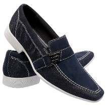 fdc4a8abf Sapato Social Masculino Couro E Jeans Esporte Fino Luxuoso