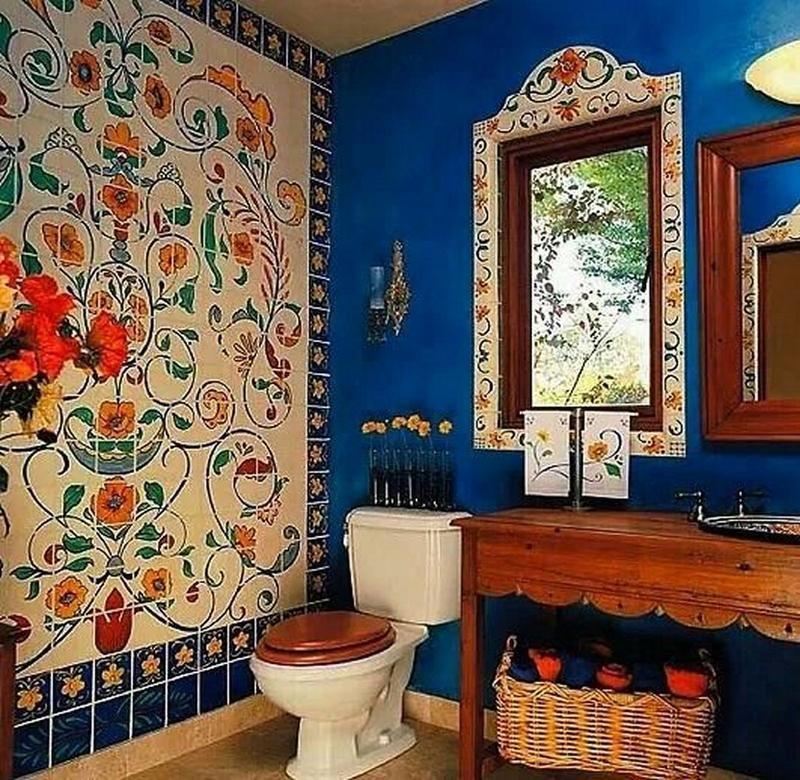 Pin by PaperDhamma on Bohemian   Pinterest   Bohemian bathroom ... Mexican Inspired Bathroom Design on spanish designs for small bathrooms, beach inspired bathrooms, mexican home decorations for bathrooms, painted mexican bathrooms, shabby chic bathrooms, spain bathrooms, asian-inspired bathrooms, santa fe style bathrooms, colonial style bathrooms, aztec-inspired bathrooms, mixacan bathrooms, paris inspired bathrooms, mediterranean inspired bathrooms, mexican looking bathrooms, spanish style bathrooms, marble vanity tops for bathrooms, mexican tile bathrooms,