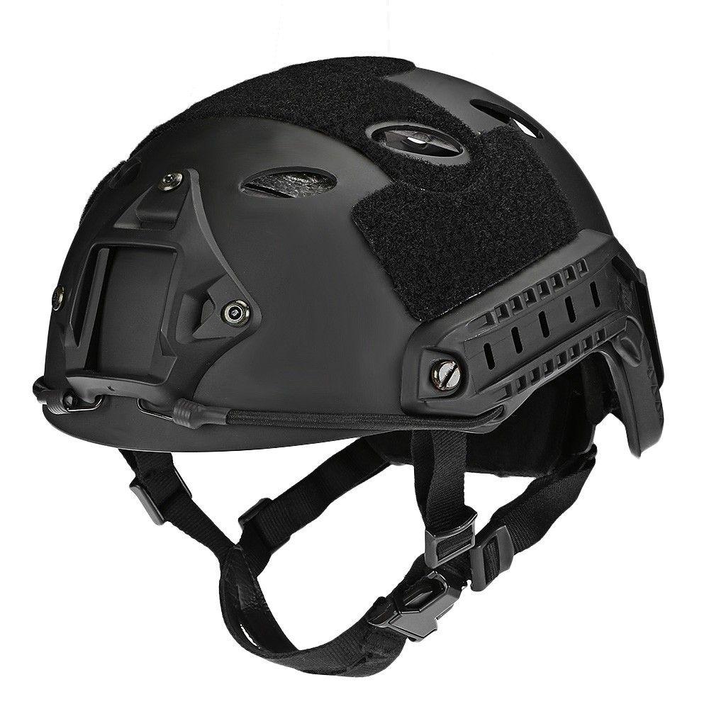 Adjustable Tactical Helmet Military Head Protector Black