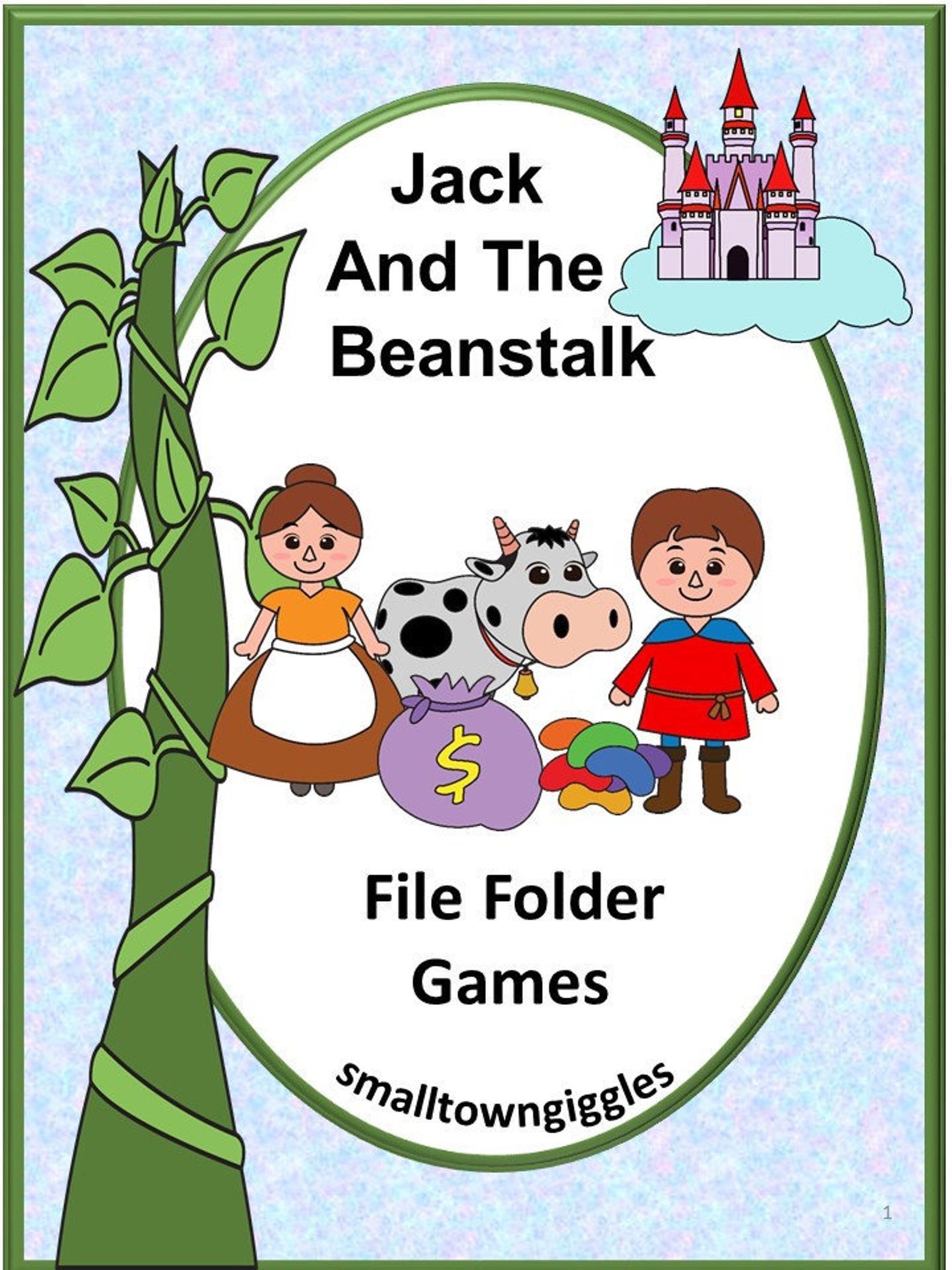 Jack And The Beanstalk File Folder Games P K K Special Ed