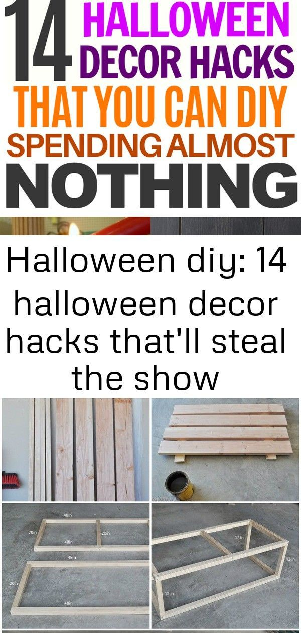 Halloween diy: 14 halloween decor hacks that'll steal the show #cheapdiyhalloweendecorations These Halloween DIY Decor Hacks are sure to turn some heads! #dollarstore #diy #halloween #decor #hacks #specialoccasion #holidays cheap DIY projects for home decoration.That will prove very beneficial to build up a well-decorated home.Industrial Wooden Coffee Table #coffeetables Halloween is right around the corner. That means it's time to pick out the costumes, carve the pumpkins, and put up the decora #cheapdiyhalloweendecorations