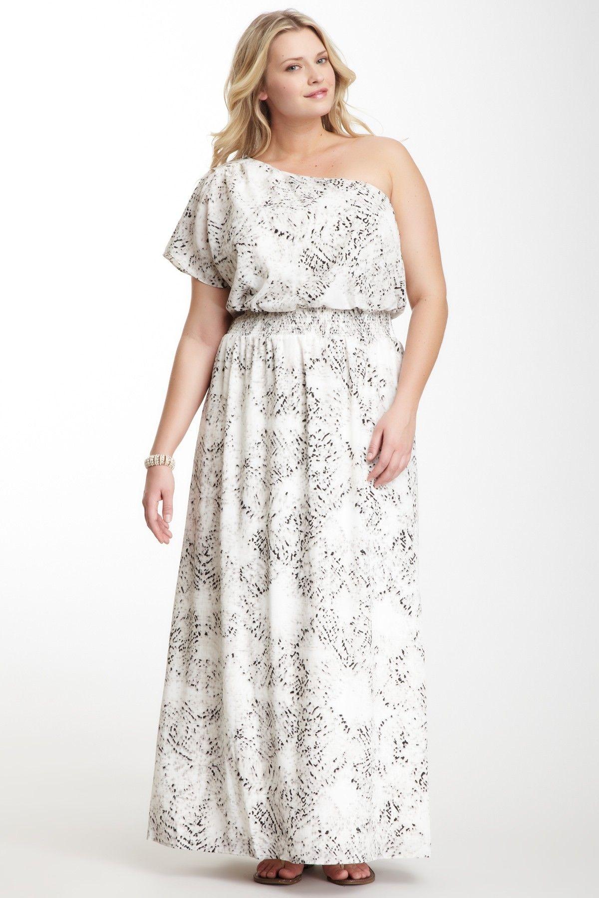 Jessica simpson wedding dress  Smocked Flutter Sleeve Maxi Dress  Curvy Plus size inspiration