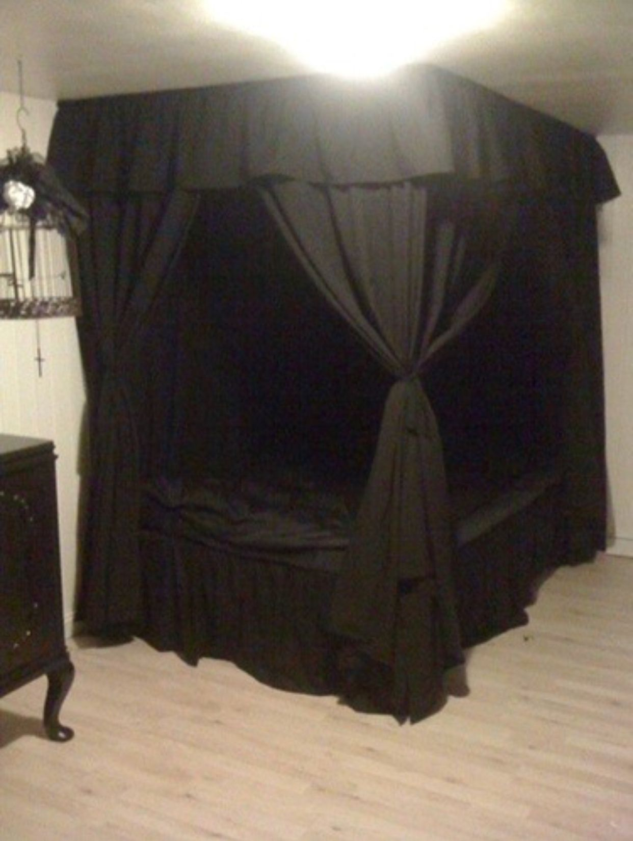 Pin by Fexybox on Bedroom Goth home decor, Canopy bed