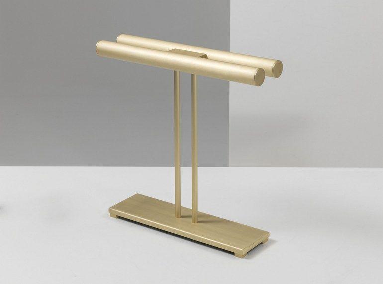Lampe de bureau led en laiton eileen lampe de bureau en laiton
