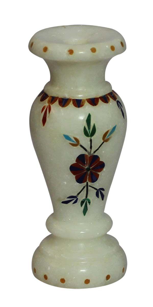 Bulk Wholesale 12 White Color Decorative Flower Vase In Soapstone