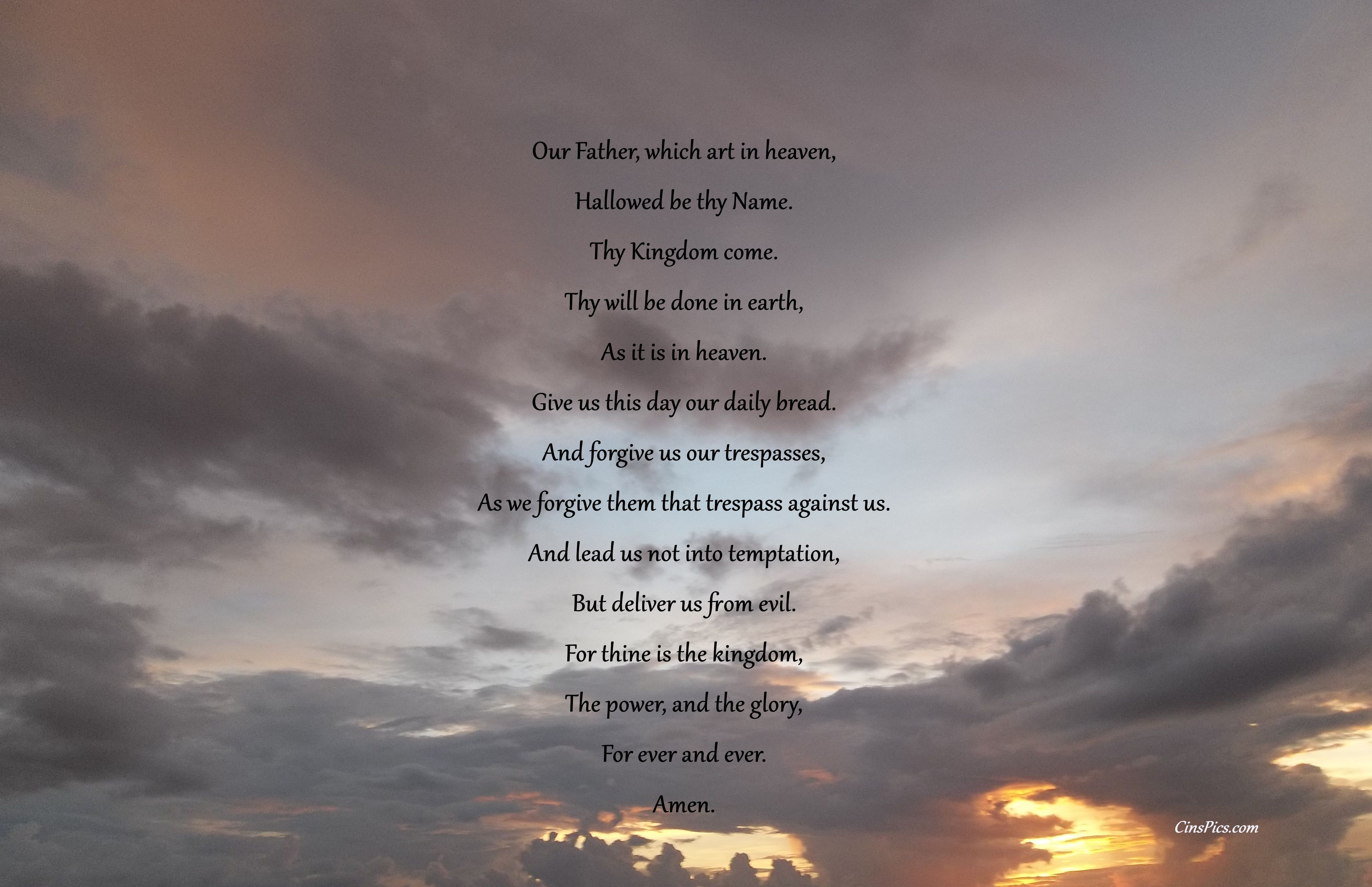 The Lords Prayer 8 x 10 Etsy The lords prayer, Prayers