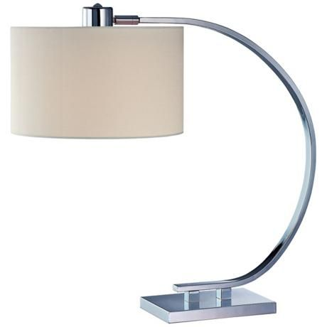 contemporary desk lamps office. Axis Chrome With White Shade Lite Source Desk Lamp - Style # V1173. Decorative LampsContemporary Table LampsOffice Contemporary Lamps Office A