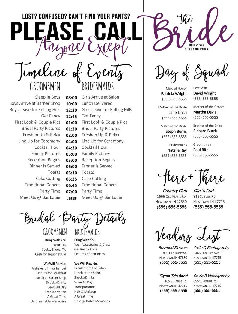 Wedding Schedule Template Purple Timeline Of Events Phone Etsy In 2021 Wedding Itinerary Template Wedding Itinerary Wedding Schedule Wedding schedule of events template