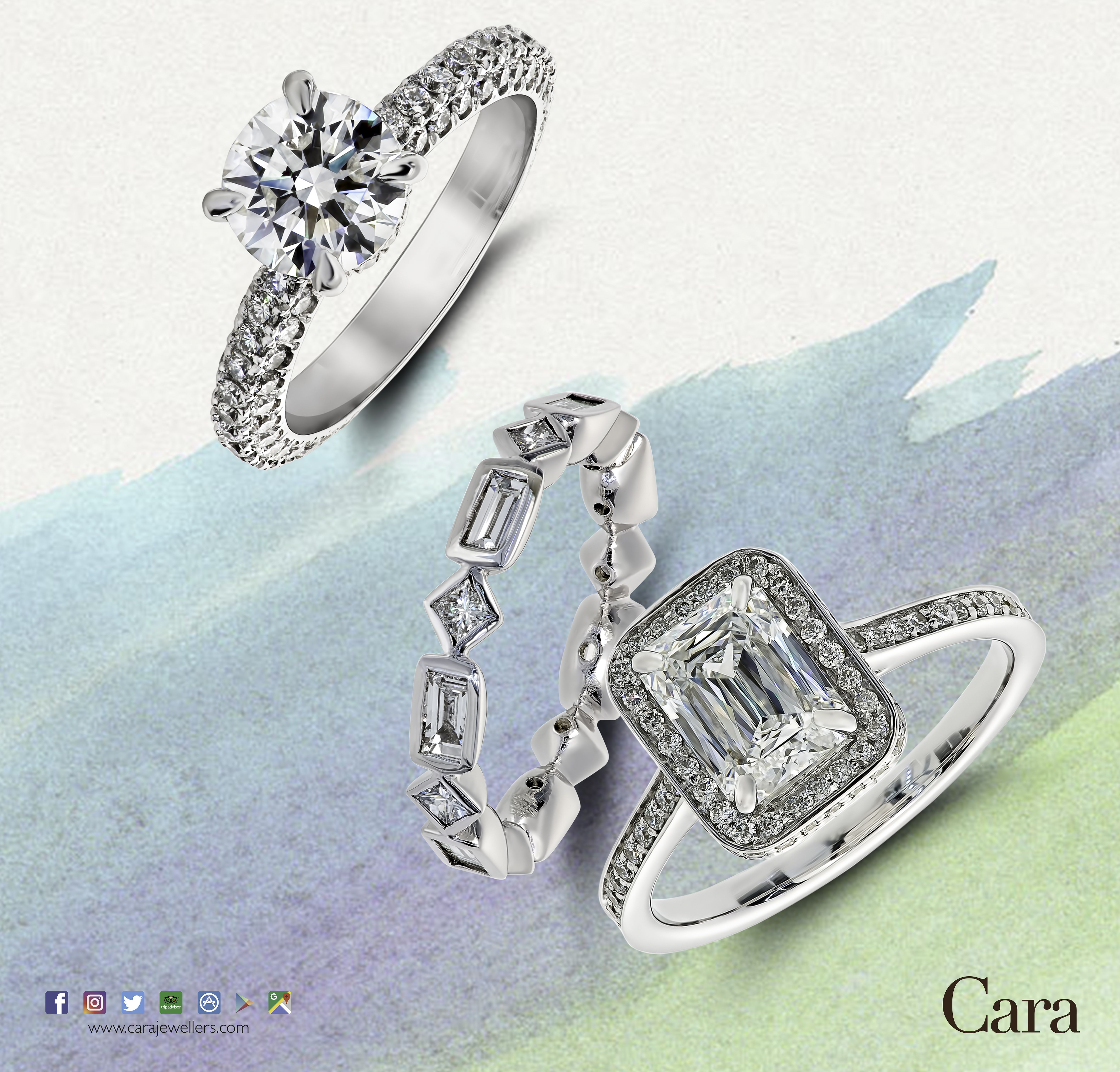 Pick any or all three from cara jewellers an round brilliant cut