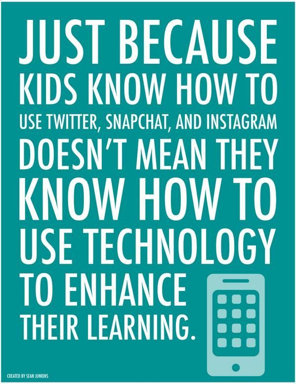 Sean Junkins On Twitter Digital Literacy Technology Quotes Education Quotes