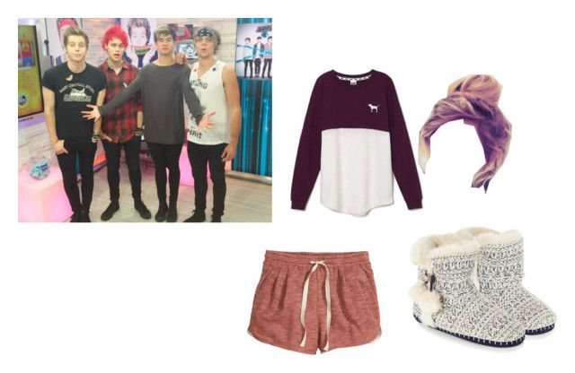 """llazy day with 5sos"" by kelceejones on Polyvore featuring H&M, Victoria's Secret and Accessorize"