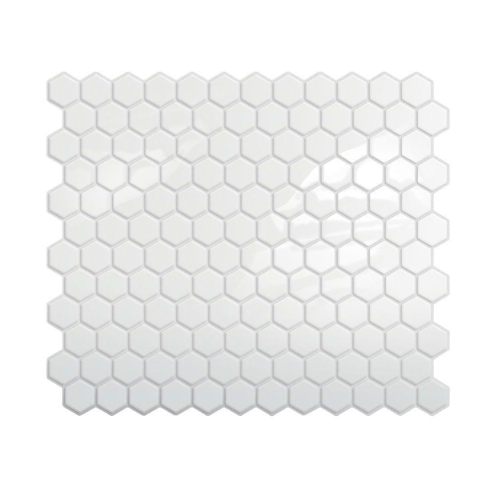 Smart Tiles Hexago 11.27 In. W X 9.64 In. H Peel And Stick