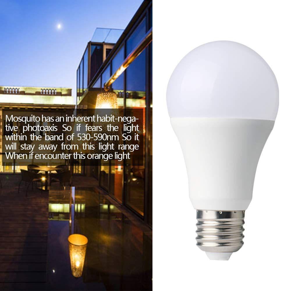 Tohoer Amber Light Sensor Dusk To Dawn Led Bulbs Bug Light