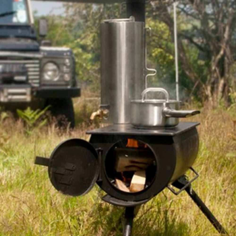 TMS STOVE-2346 Portable Military Camping Tent Steel Wood Stove ...