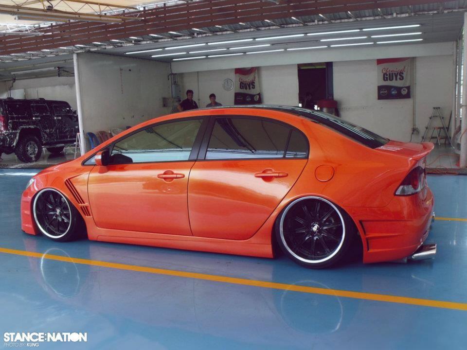 Orange Modified Honda Civic Reborn Honda Civic Honda Civic