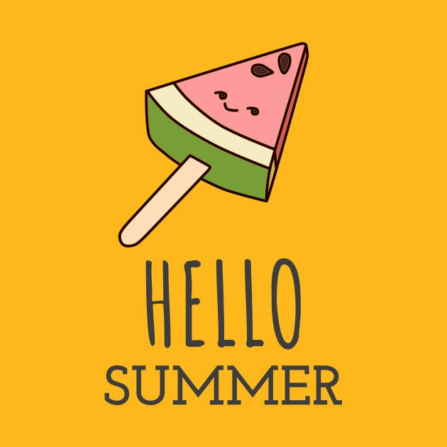 Check Out This Awesome U0027Hello+Summer+with+Cute+Watermelon+IceCream
