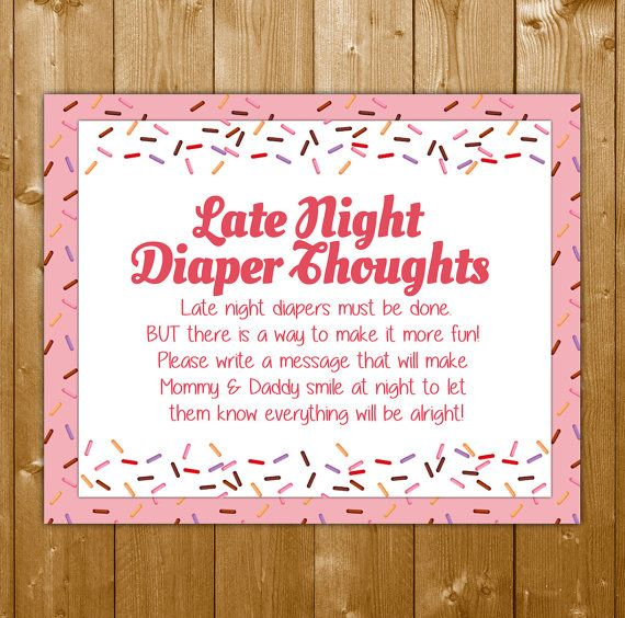 Baby Sprinkle Shower Game Diaper Thoughts, Baby Sprinkle for a Girl, Instant Download, Shower Printables