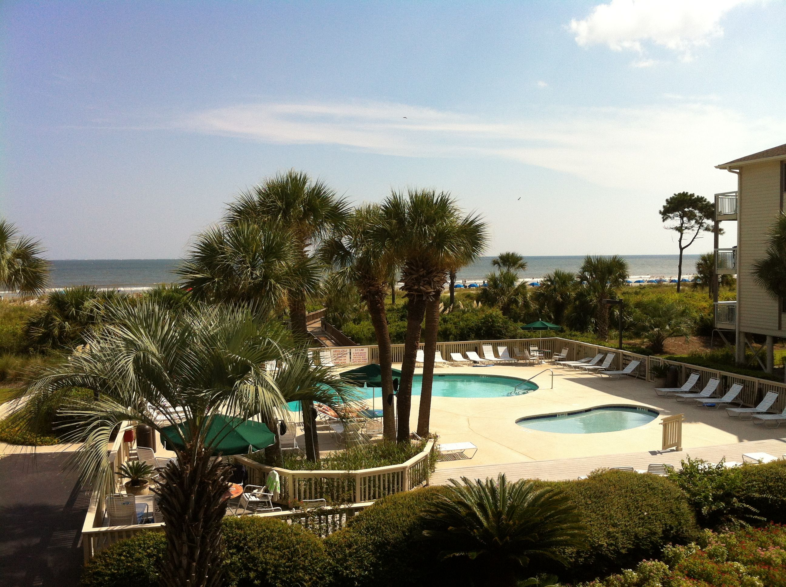 Hilton Head Beach View From Our Condo At The Breakers Coligny