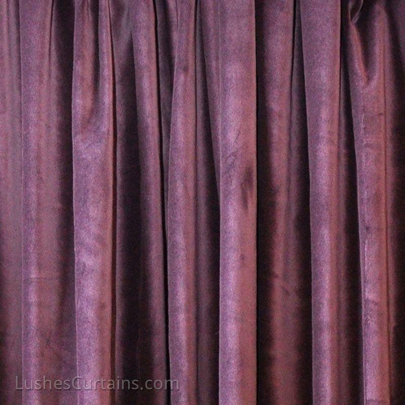 purple 100 belgium cotton velvet curtain panels cortinas moradas teciopelo 100 algodon - Cortinas Moradas