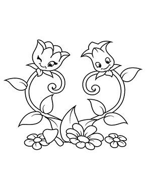 Ausmalbild Blumenherz Blumen Zeichnung Blumen Ausmalbilder Stoffmalerei