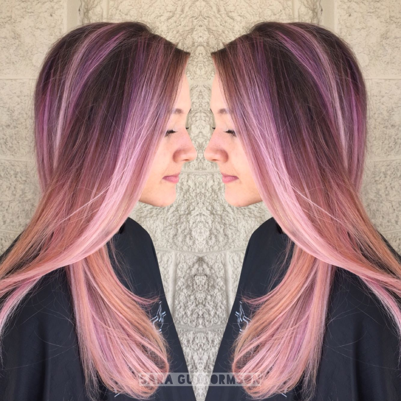 Pastel pink coral balayage hair instagram saraghair hair envy
