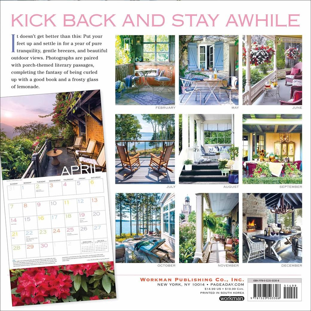 Outside fall wedding decorations february 2019 Out On The Porch Calendar   Calendar World  Pinterest