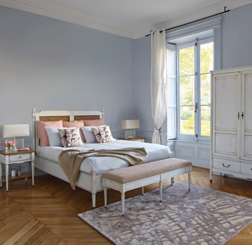 classic chic klassieke slaapkamer chique slaapkamer wit houten bed franse meubelen