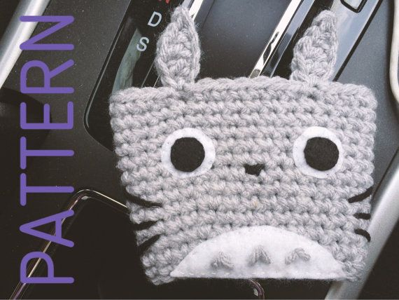 Totoro Inspired Coffee/Tea Cup Cozy Pattern | crochet cup cozy| digital crochet pattern | picture tutorial | Instant PDF download