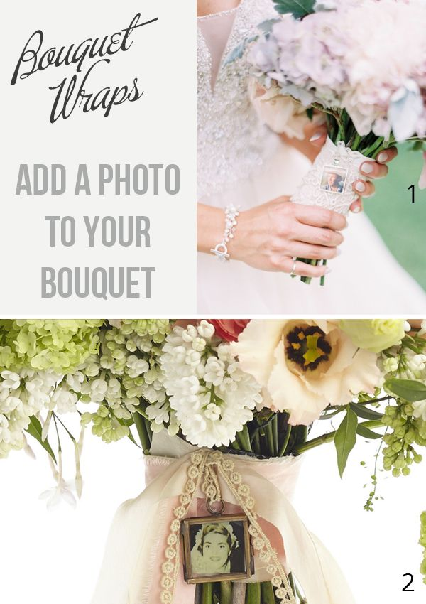 Bouquet Photo Frames – Add A Tiny Photo To Your Bouquet To Keep ...