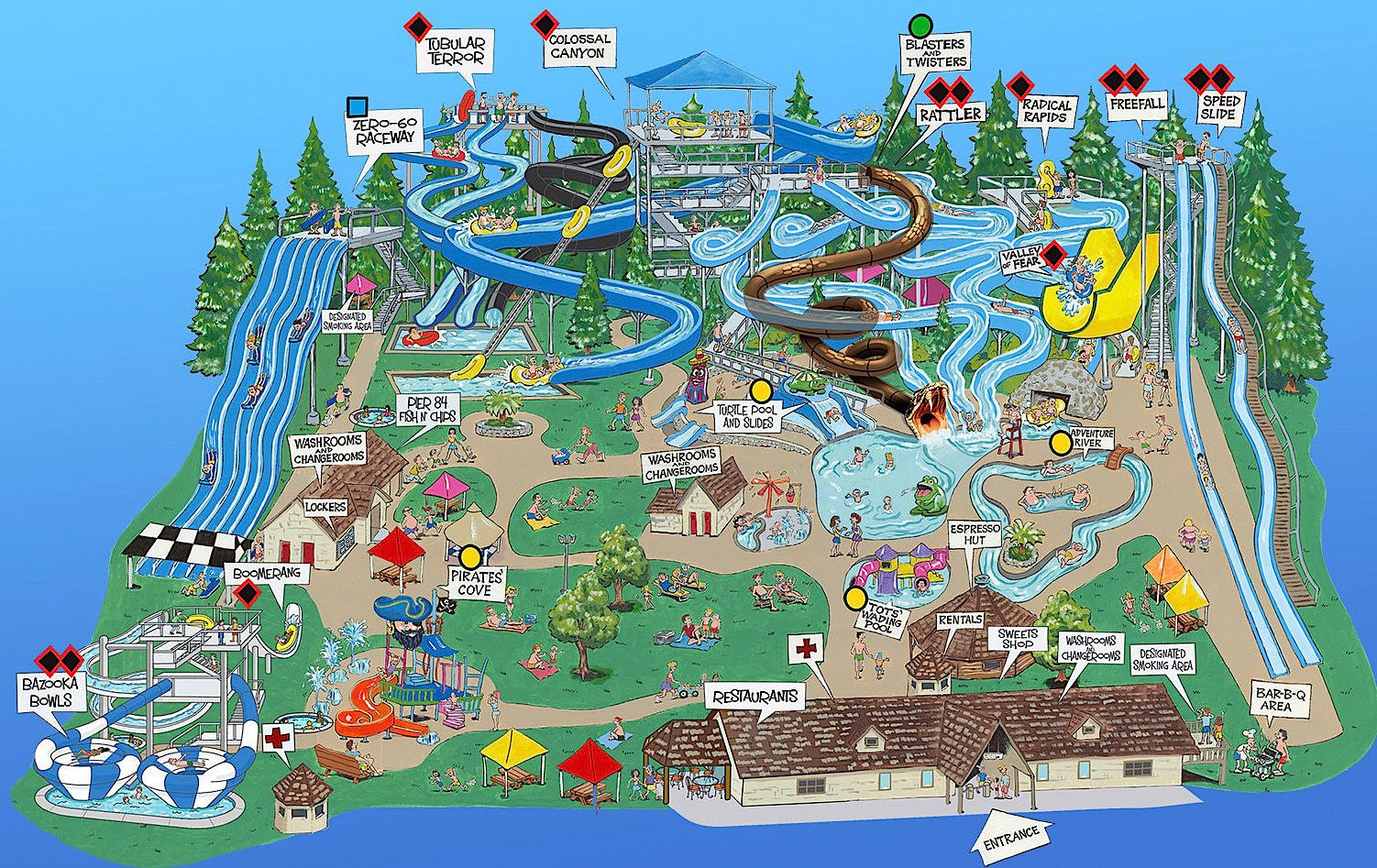 Map of Cultus Lake Waterpark, BC's biggest and best