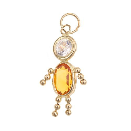 10k Gold Birthstone Babies Boy Charm To Match Ellies Girl Charm I Have Boy Charm 10k Gold Birthstones