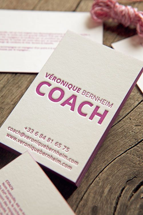 Carte De Visite Recto Verso Pantone 248U Sur Papier 100 Coton Letterpress Business Cards Printed In Onto 600g Cotton Paper