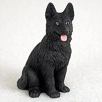 POMERANIAN Black Dog TiNY FIGURINE HandPainted MINIATURE Resin Mini Statue puppy