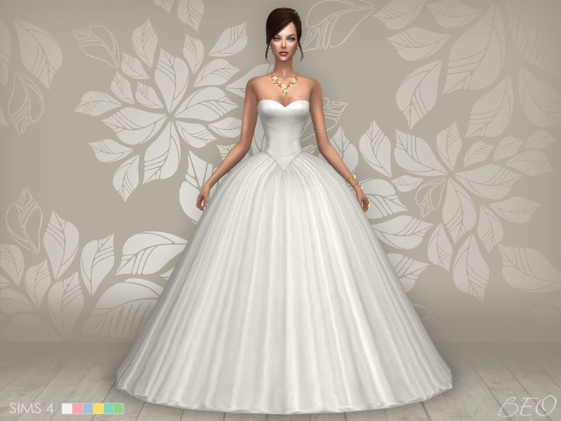 21ac4edd731735c Lana CC Finds - Wedding dress - Cindy (S4) | TS4 Clothing - Female ...