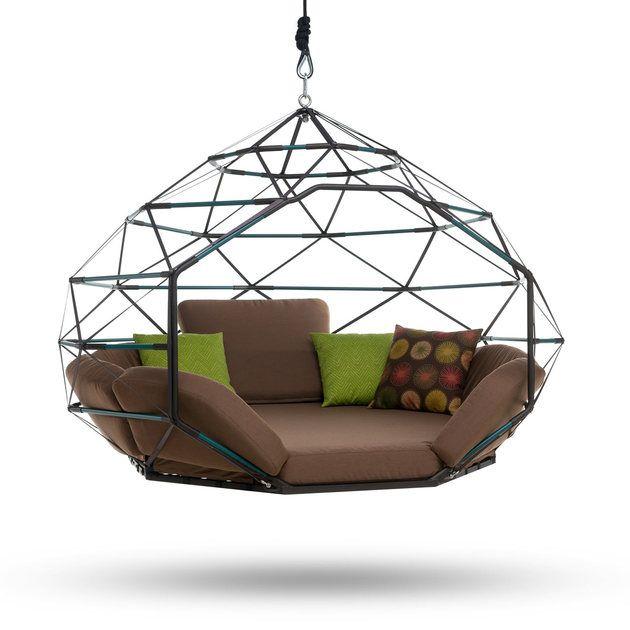 #Möbel Hängende Outdoor Lounge Kodama Zome #home #Ideen #garten #dekoration  #