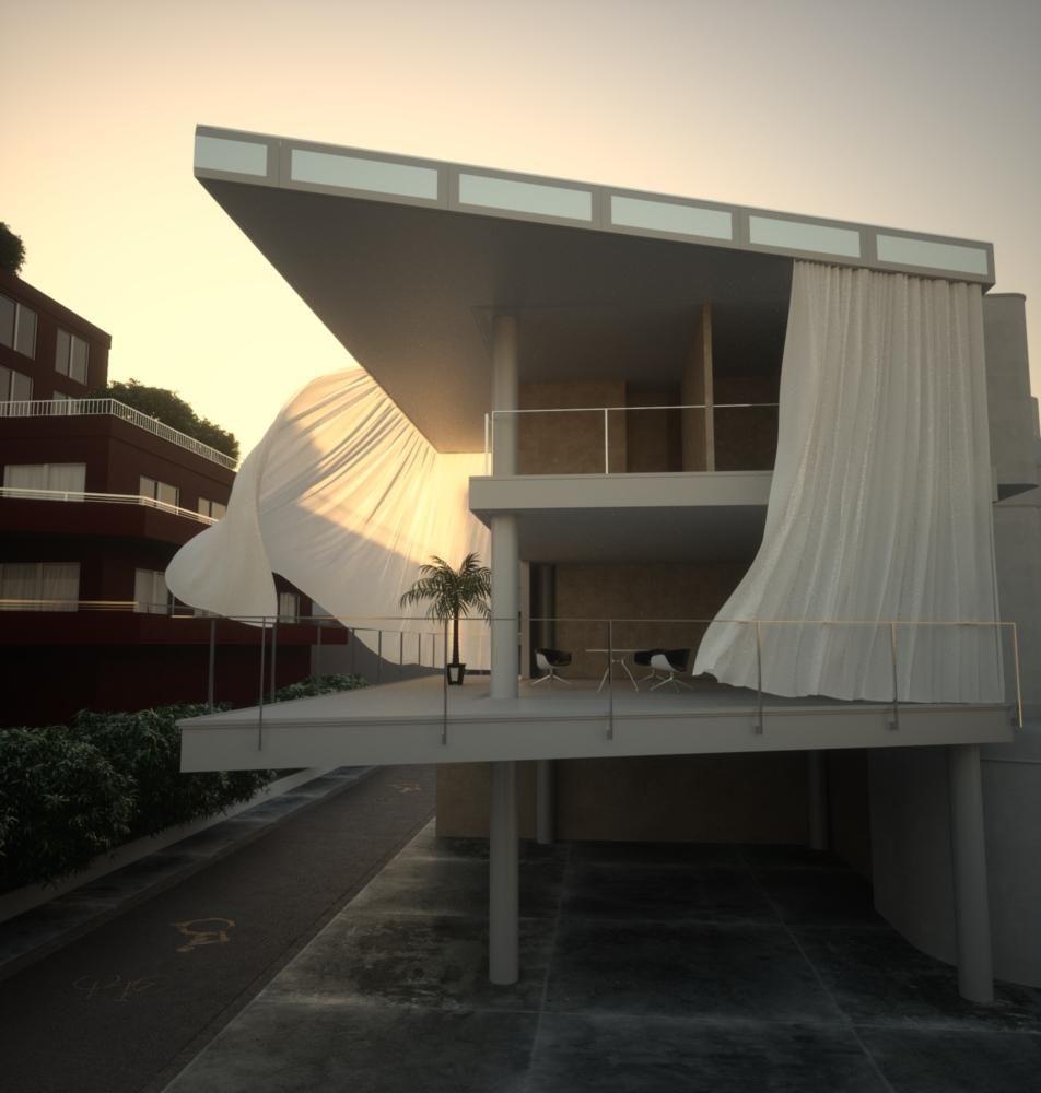 Curtain wall house, Shigeru Ban