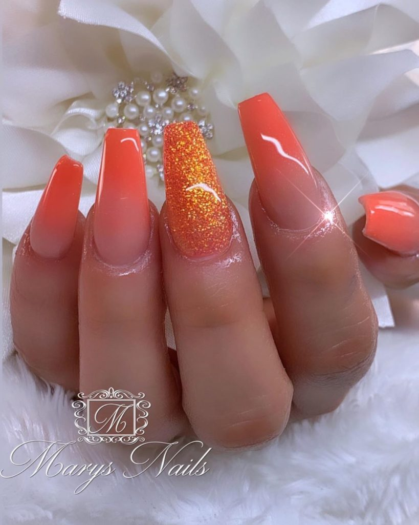 65 Best Ombre Nail Designs Ideas 2020 Guide In 2020 Ombre Nail Designs Ombre Nails Orange Nail Designs