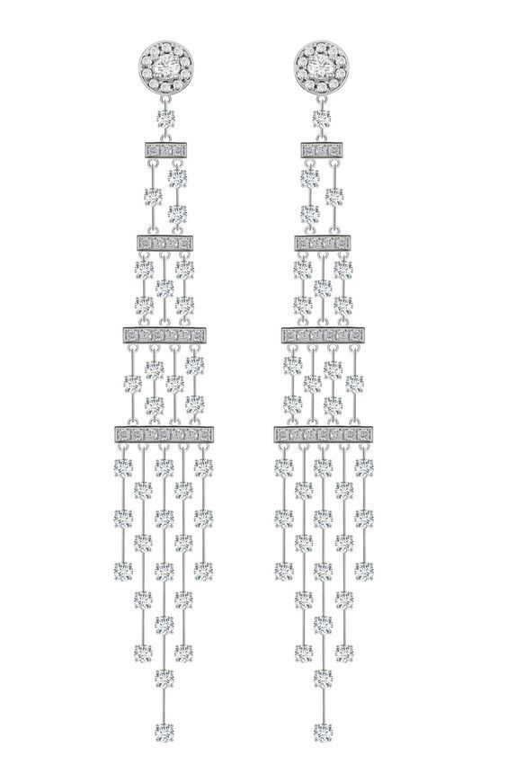 Diamond and white gold chandelier earrings simply gorg diamond and white gold chandelier earrings aloadofball Images