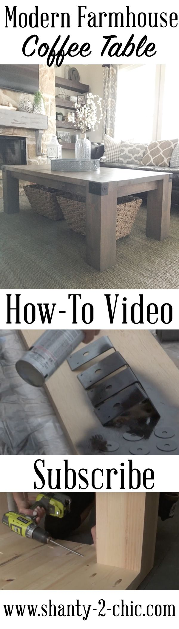 Modern farmhouse coffee table and how to video farmhouse coffee modern farmhouse coffee table and how to video geotapseo Gallery