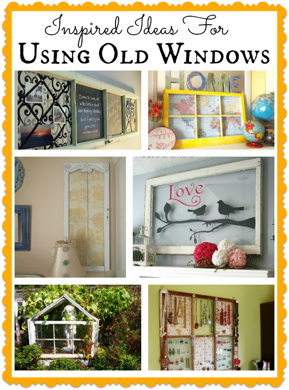 Take a look at these 10 ideas for using old windows in your home and garden and get inspired to transform some trash into treasure. So many easy to do ideas!