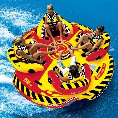 Carousel Towable Round Raft For 4 Riders Sp53 2285 Lake Fun Boat Tubes Rafting