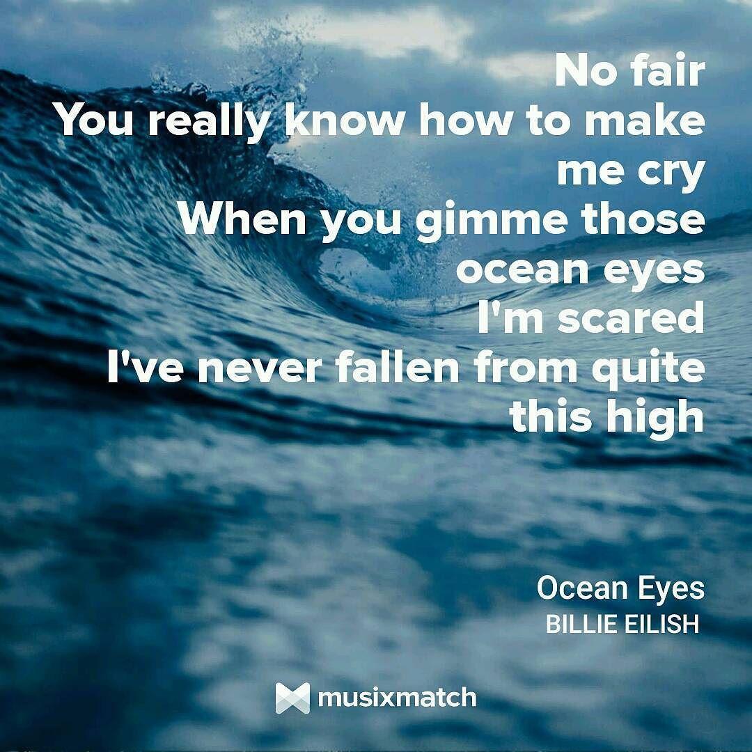"Lovely Music Quotes: ""Ocean Eyes"" By Billie Eilish #lyrics #oceaneyes"