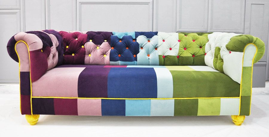 Reserved Listing For Jody Chesterfield Patchwork Sofa Inside Katalog