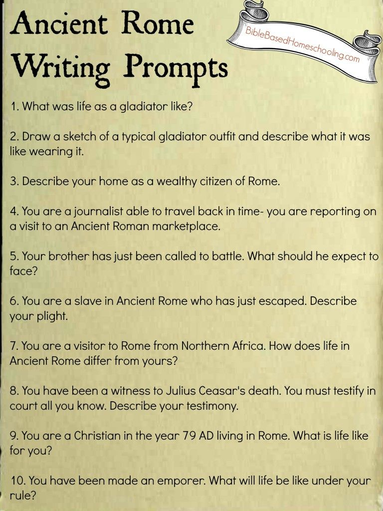 FREE Ancient Rome Writing Prompts Printable   Ancient rome [ 1024 x 768 Pixel ]