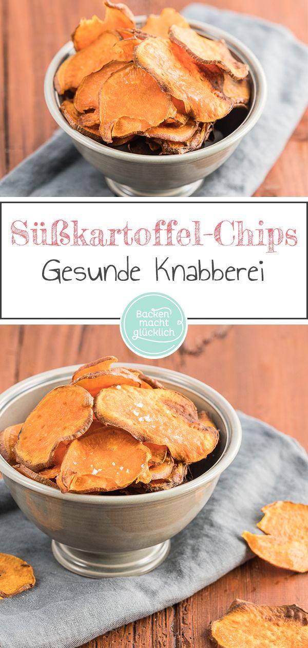 Süßkartoffelchips aus dem Ofen #homemadesweets