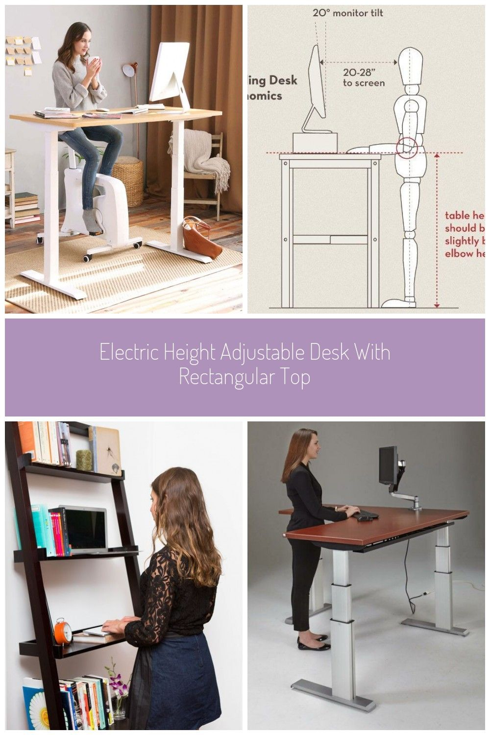 Electric Height Adjustable Desk With Rectangular Top Adjustable Height Desk Adjustable Desk Adjustable Height Standing Desk