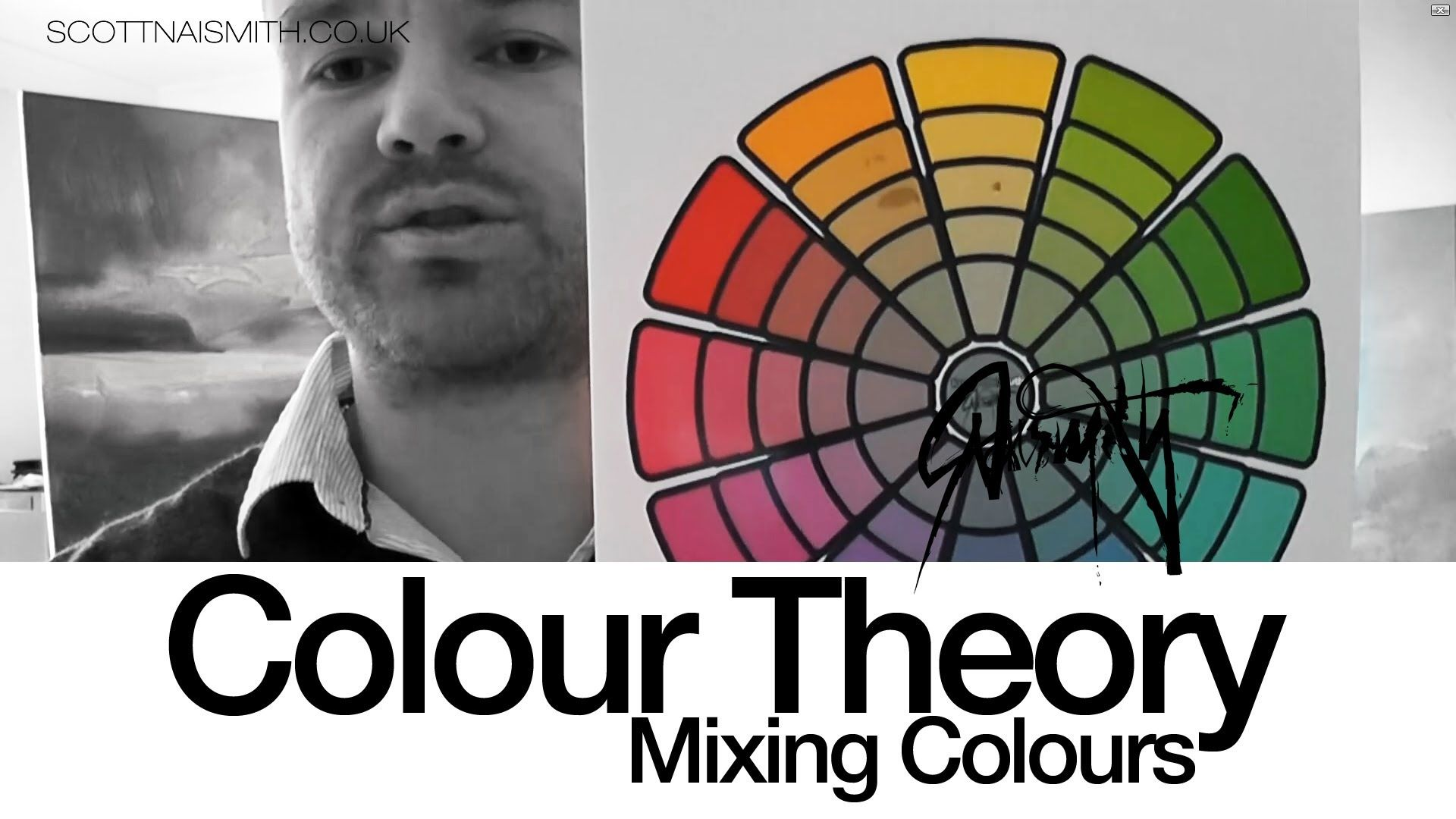 Colour Theory: Mixing using a colour wheel