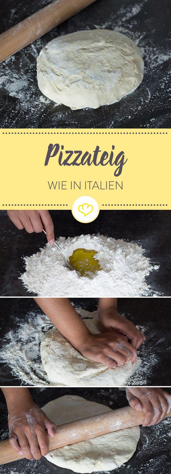 Original italienischer Pizzateig – Das Grundrezept #pizzateigmittrockenhefe