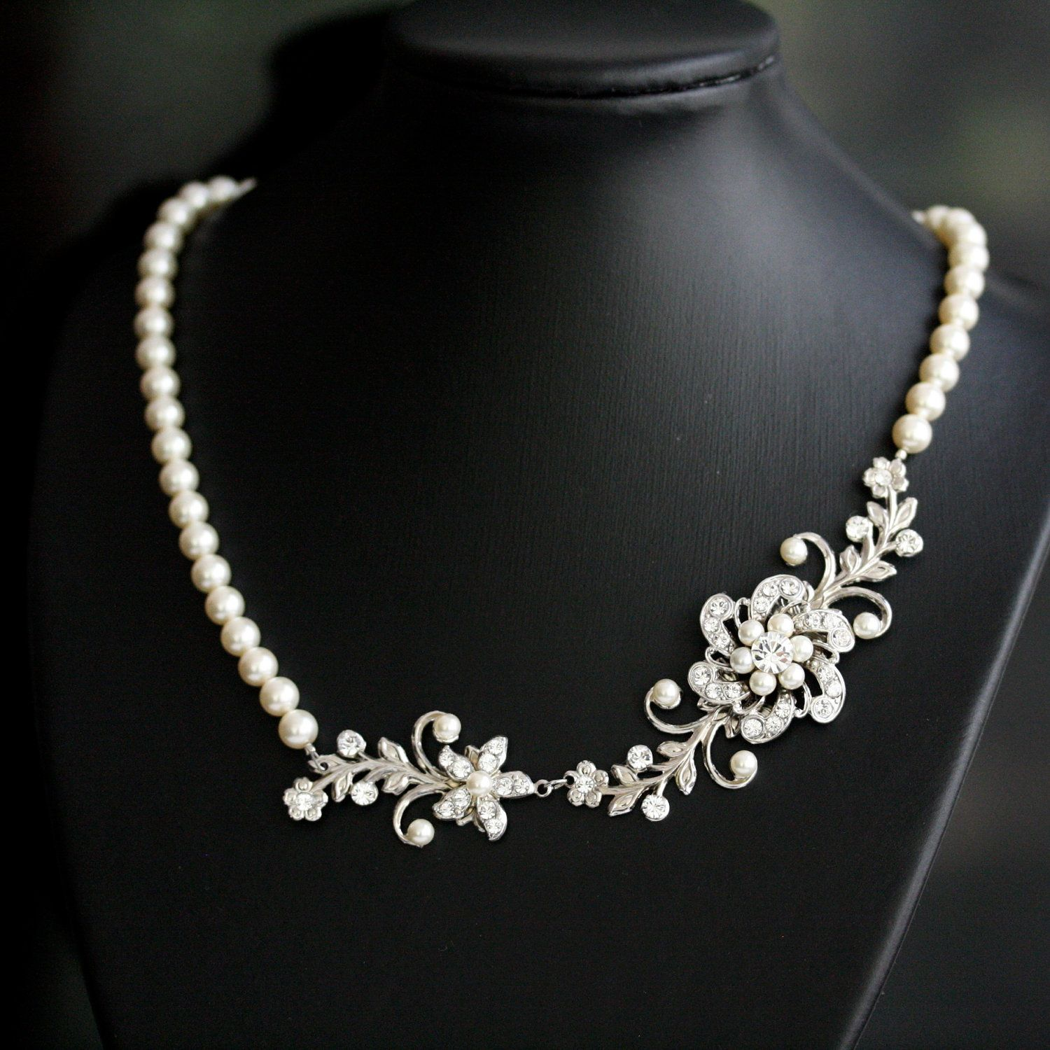 Bridal Pearl Necklace Wedding Necklace Vintage Bridal Necklace